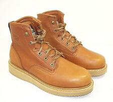 """Georgia Mens 6"""" Wedge 8.5 M Lace Up Soft Toe Work Boots G6152"""
