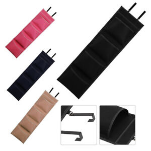 4 Tier Over The Door Hanging & Hook Organiser Storage Pocket Clothes Wardrobe UK