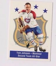 1994 Parkhurst Tom Johnson AS Montreal Canadiens Autographed Card