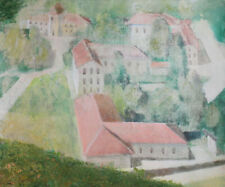 Impressionist landscape vintage canvas print