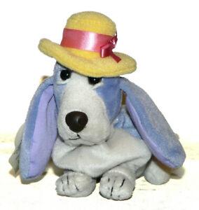 "Hush Puppies Purple Mom Bassett w/ Hat Hound 6"" Bean Bag Stuffed Animal w/tag"