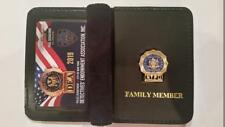 """1 2019 COLLECTIBLE"" NEW NYPD DEA PBA CARD WITH LEATHER DETECTIVE  FAMILY WALLET"