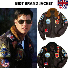 Top Gun Tom Cruise A2 Fighter Bomber Cow Leather Jacket Upcoming New Movie 2020