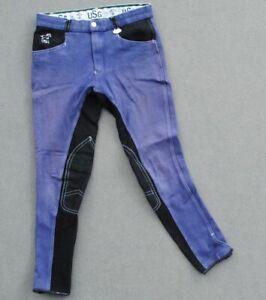 USG Kinder Reithose Kinderreithose blau Kniebesatz Gr.158-164 siehe Maße!!