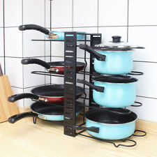 Pan Lid Holder Storage Rack Adjustable Pot Cover Organizer Kitchen Accessories