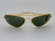 VINTAGE  RAY BAN W1958 FUGITIVES Gold Sunglasses Lunettes Brille G-15 Lens