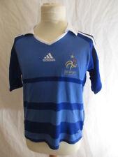 Maillot de football vintage  l'équipe de France Adidas Bleu Taille 8 ans