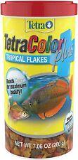 Tetra TetraMin Plus Tropical Flakes 7.06oz (200g) Fish Food Clean Water Formula