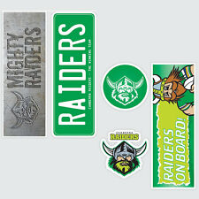 NRL Canberra Raiders Set of 5 UV iTag Bumper Decals / Stickers
