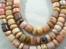 "Beautiful Peruvian Pink Opal Beads Varied color and thicknes gemstone 16"" strand"