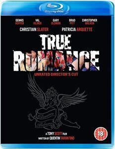 TRUE ROMANCE Blu Ray (Christian Slater, Val Kilmer, Brad Pitt) New & Sealed