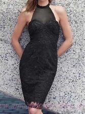 BNWT LIPSY BLACK SWEETHEART CHOKER NECK LACE FLORAL OVERLAY BODYCON SIZE 10 £65