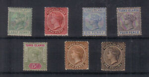 Turks Islands Q Victoria 1887-95 Mounted mint collection