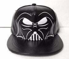 YOUTH SIZE boys Shiny Leather-look DARTH VADER SNAPBACK HAT Flat Bill Star Wars