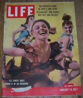 Life Magazine January 14, 1957 Li'l Abner Girls Alexander Hamilton New Year