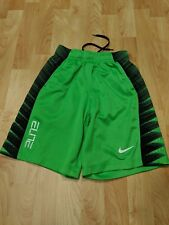 Nike Boys Youth Elite Basketball Shorts Size Extra small Neon Green Guc
