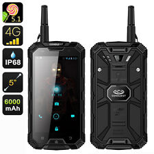 """BLACK CONQUEST S8 PRO 5"""" SCREEN RUGGED SMARTPHONE-3GB RAM,WATERPROOF,ANDROID 5.1"""