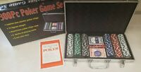 300 Piece Casino Poker Chip Set In Aluminum Case - Unbranded New Open Box