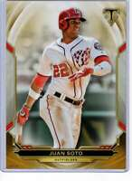 Juan Soto 2019 Topps Triple Threads 5x7 Gold #96 /10 Nationals