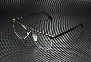 PRADA PR 63UV LFD1O1 Matte Brown Matte Pale Gold Demo Lens 54mm Men's Eyeglasses