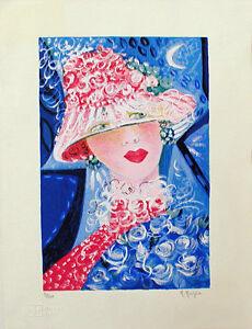 """MARIA MURGIA - """"La Signora"""" - Serigrafia a 30 colori cm 40x30"""