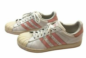 Adidas Superstar White/Pink Leather Sneakers     Size: 7