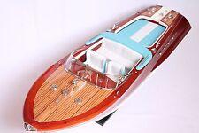 """LARGE RIVA AQUARAMA LAMBORGHINI BOAT 35"""" (90cm) Wood Model"""