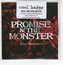 (HF872) Promise & The Monster, Fine Horsemen - 2016 DJ CD