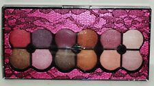 PROFUSION 12 Shades Of Eyeshadow In Pink & Black Lace Compact 2 Double End App