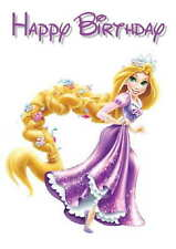 Disney Inspired Rapunzel Personalised Hand Made Printed Card any occasion