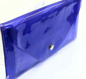 NEW MARC JACOBS BLUE COSMETIC MAKEUP PLASTIC BAG