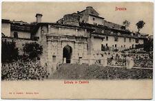 cartolina BRESCIA entrata in castello