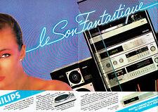 Publicité Advertising 038  1981   Philips (2p) hi-fi  tuner ampli  platine