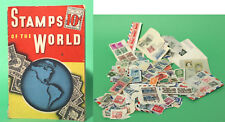Vintage stamp Album (1938) and 350+ World Stamps on Paper (Pre 1955)