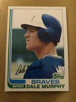 1982 Topps Dale Murphy #668 Baseball Card. Centered Front. Sharp Corners.