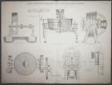c1868 CARR'S DISINTEGRATOR & EFFERTZ BRICK MAKING MACHINE Large ENGRAVING Print