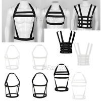 Men's Lingerie Nylon Body Chest Harness Elastic Strap Belt Punk Clubwear Costume