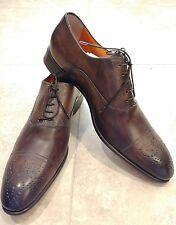 Santoni 'Stanford' Cap Toe Oxford Size 11 D Brown Men's Shoes Retail $795