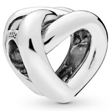 PANDORA Charm Element 798081 Knotted Heart Herz Silber Bead