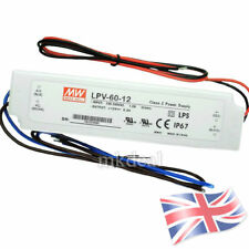 12V 60W IMPERMEABILE IP67 LED Driver Alimentatore Trasformatore Mean Well LPV-60-12
