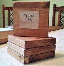 Handmade Drink Coasters - Rustic Wood Distressed MEDIUM OAK COLOUR - Set of 2