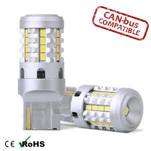 2x Canbus BRIGHT WHITE LED REVERSE BULB No Error 7440 W21W T20 582
