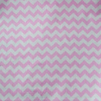 "Poly Cotton Chevron Zigzag Fabric 56"" / 58"" Width By The Yard Baby Pink"