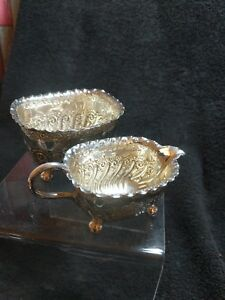 Quality Victorian Silver plated  Sugar Bowl And Cream Jug. Atkin brothers