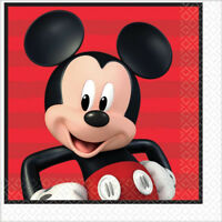 MICKEY MOUSE PARTY SUPPLIES LUNCH NAPKINS PACK OF 16 2 PLY