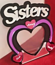 Sisters Picture Frame Personalized Free Engraved frame and stand 4 x 6 picture