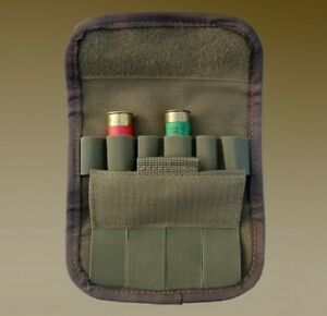 TACTICAL AMMO POUCH 6 ROUNDS SHELL HOLDER BANDOLIER 6 GAUGE CASE BAG HOOK & LOOP