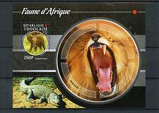 Togo 2015 MNH African Fauna 1v S/S Lions Crocodiles Elephants