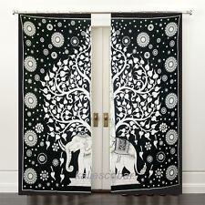 Elephant Mandala Curtains Tapestry Drapes Window Treatment Bohemian Valance