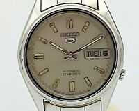 SEIKO 5 Automatic Day/Date Wristwatch 17J Cal. 7009A 6001 Vintage 1980's Watch